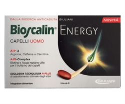 Bioscalin Linea Capelli Uomo Energy R-Plus Anticaduta Integratore 30 Compresse